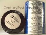 CFB110450ZE-S - Century Falcon Black - Wax Thermal Ribbon - 4.33 in X 1476 ft, Coated Side Out - Sold per Roll