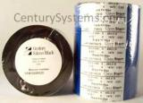 CFB102450ZE-S - Century Falcon Black - Wax Thermal Ribbon - 4.02 in X 1476 ft, Coated Side Out - Sold per Roll